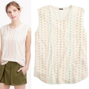 SALE J Crew Stacked Sequin Shell Beaded Tank Top